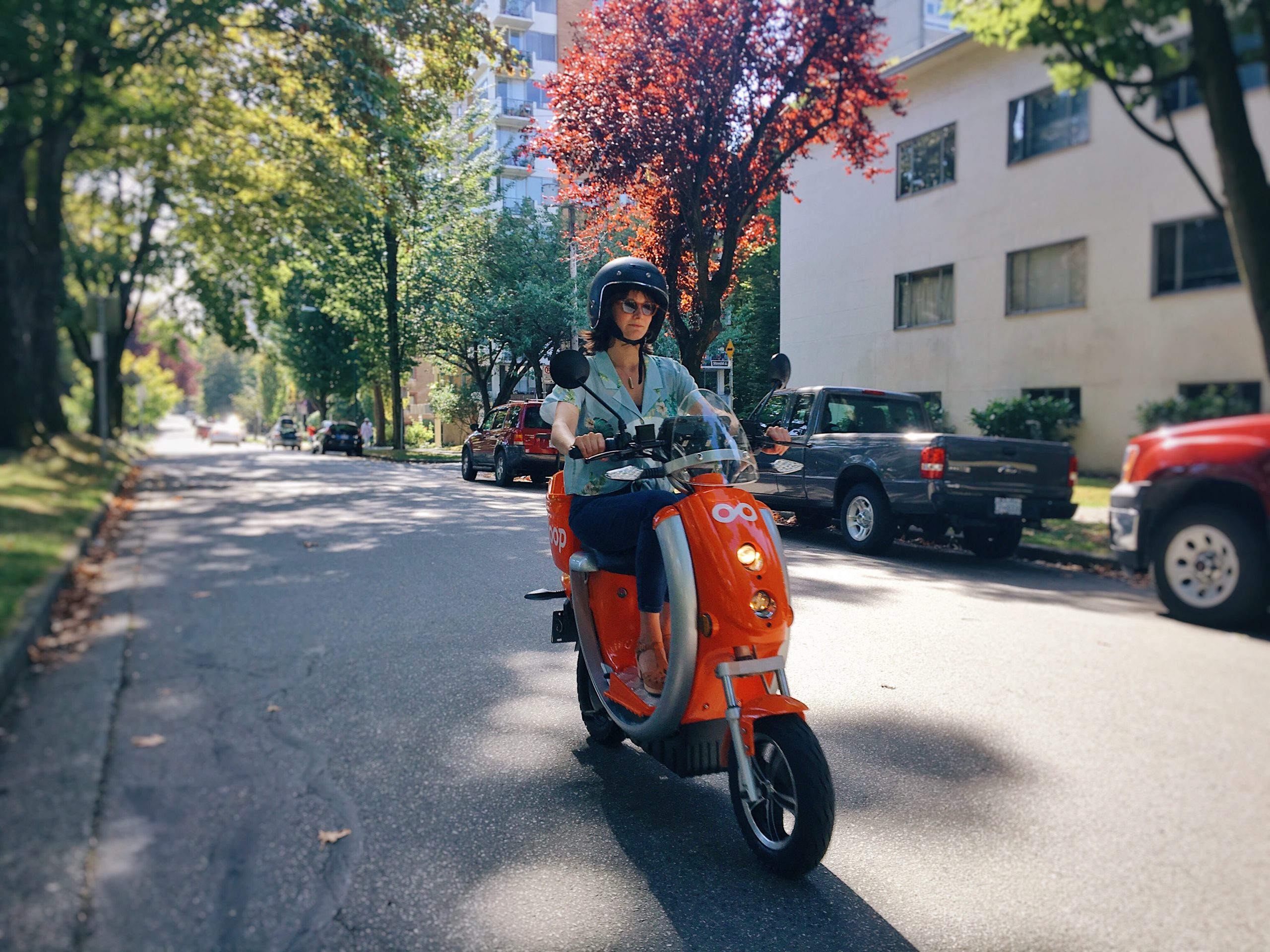 Person riding a Loop Scooter